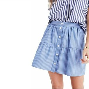 Madewell Bistro Striped Skirt-L